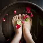 aromaterápiás lábfürdő